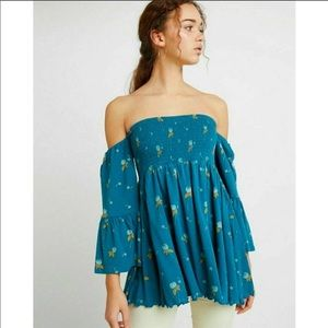 NWT Free People Lana Off The Shoulder Tunic Sz S
